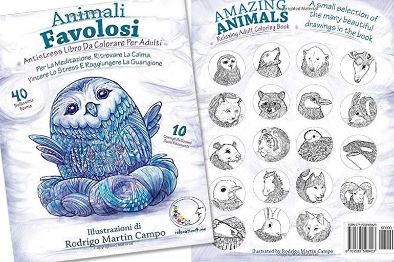 Libro da colorare animali favolosi dottorgadget - Libro da colorare elefante libro ...