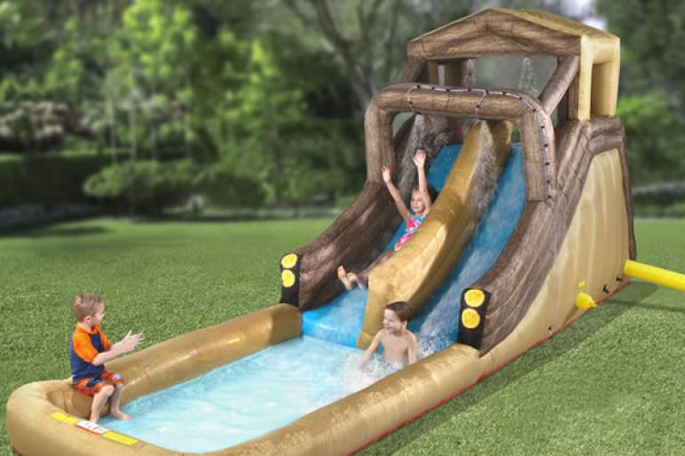 Log flume lo scivolo acquatico gonfiabile dottorgadget - Scivolo gonfiabile per piscina ...