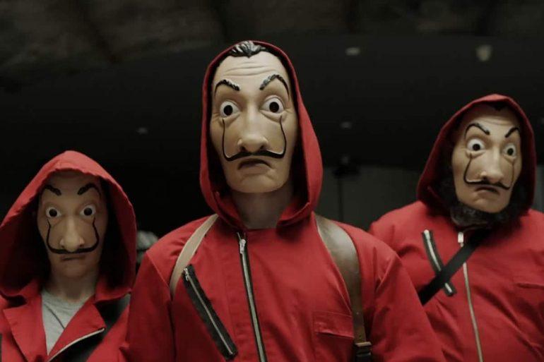 maschera dali casa di carta  Maschera Salvador Dalì | DottorGadget