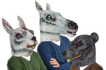 Maschere da animali Zombie