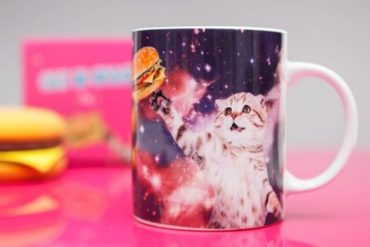 Mug Cat in Space