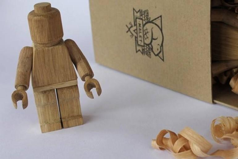 l 39 omino lego di legno dottorgadget