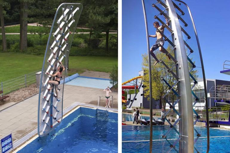 Aquaclimb la parete da piscina dottorgadget for Gadget da piscina