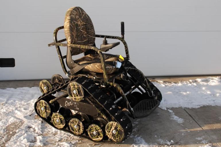 la sedia a rotelle cingolata dottorgadget