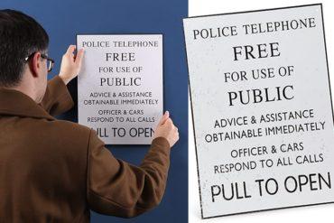 L'insegna del TARDIS