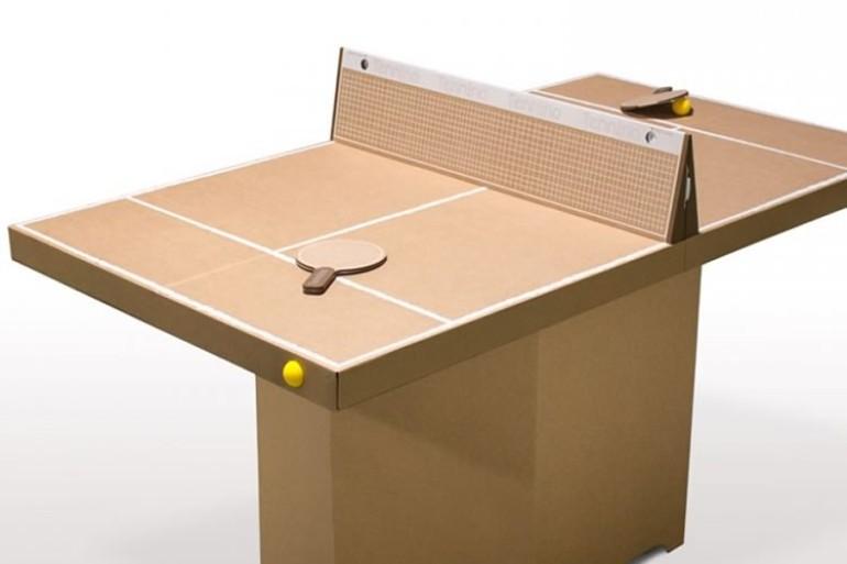 Tavolo da ping pong in cartone dottorgadget - Materiale tavolo ping pong ...