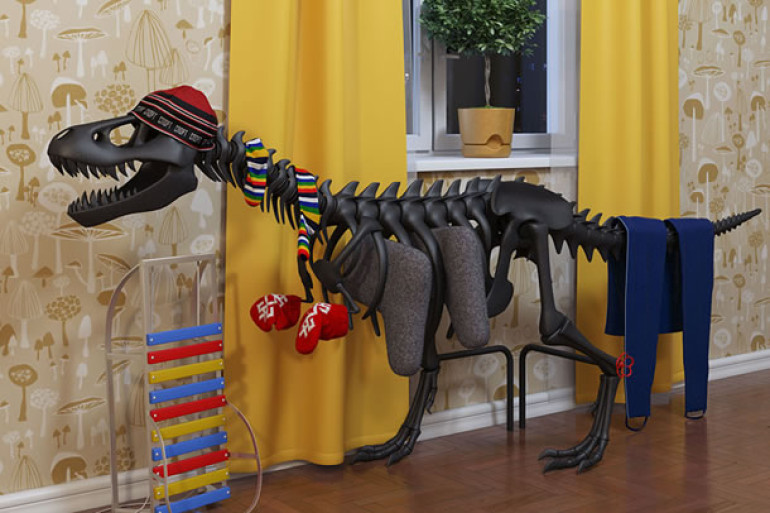 Thermosaurus un t rex come calorifero dottorgadget for Calorifero d arredo