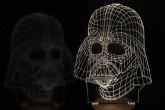 Light Art 3D Darth Vader