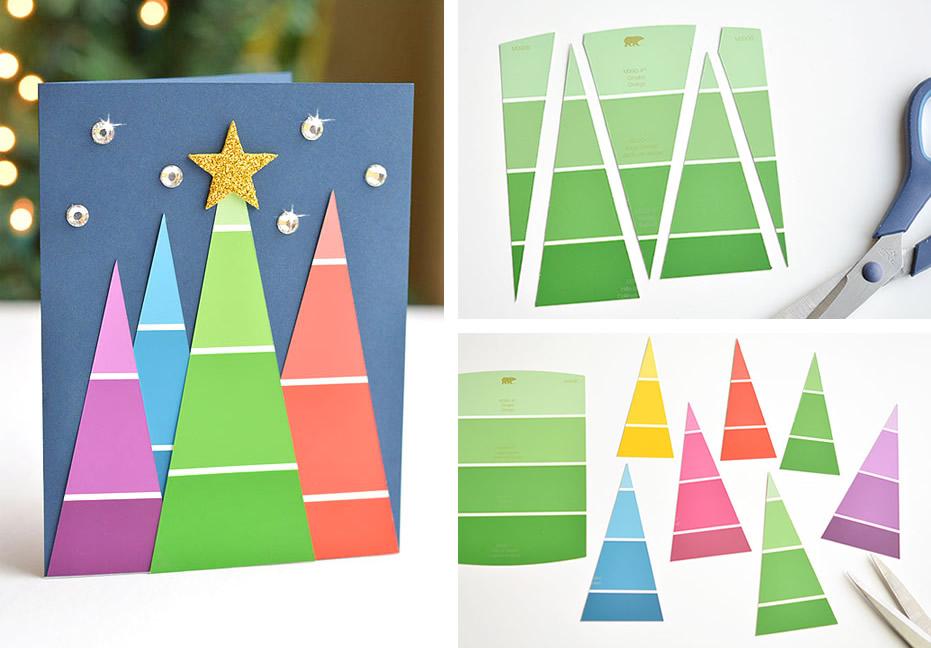 Biglietti di Natale con i campionari colori