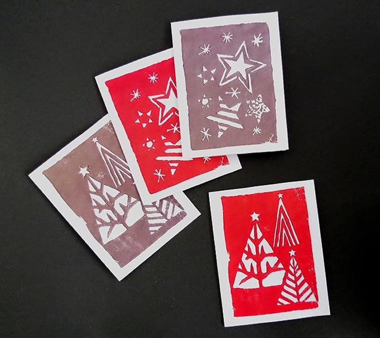 Biglietto di Natale con stencil