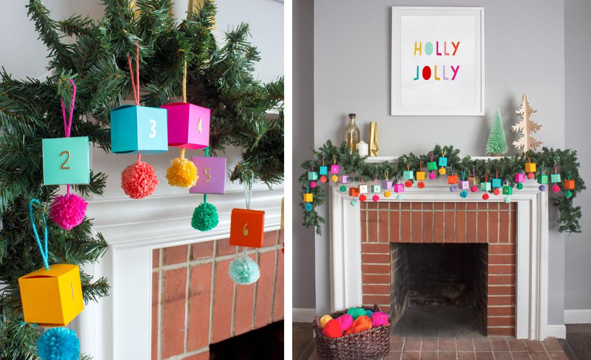 Ghirlanda natalizia con calendario dell'avvento