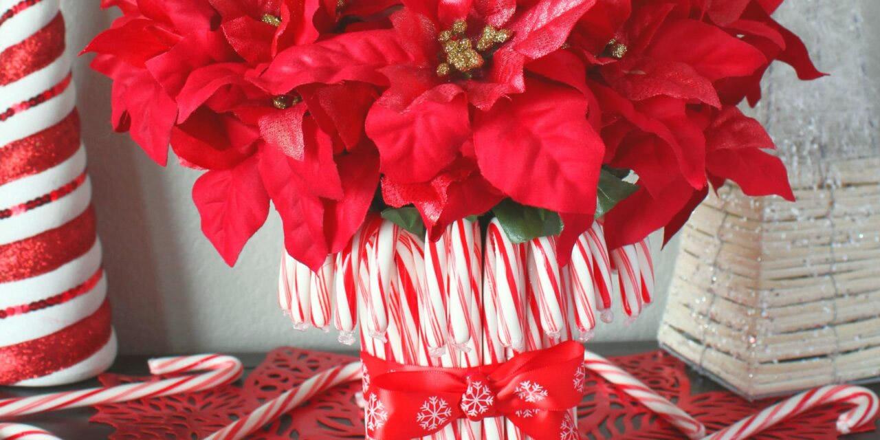 Centrotavola natalizio con Candy canes