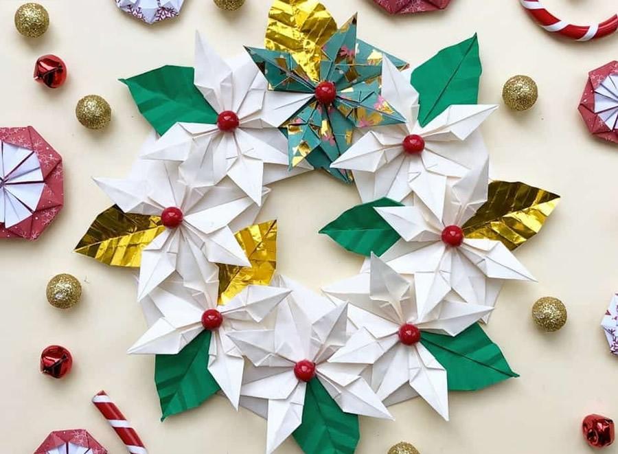 Centrotavola natalizio fai da te con Origami