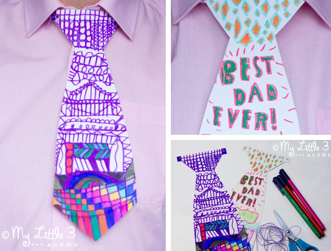 Cravatta di carta per papà