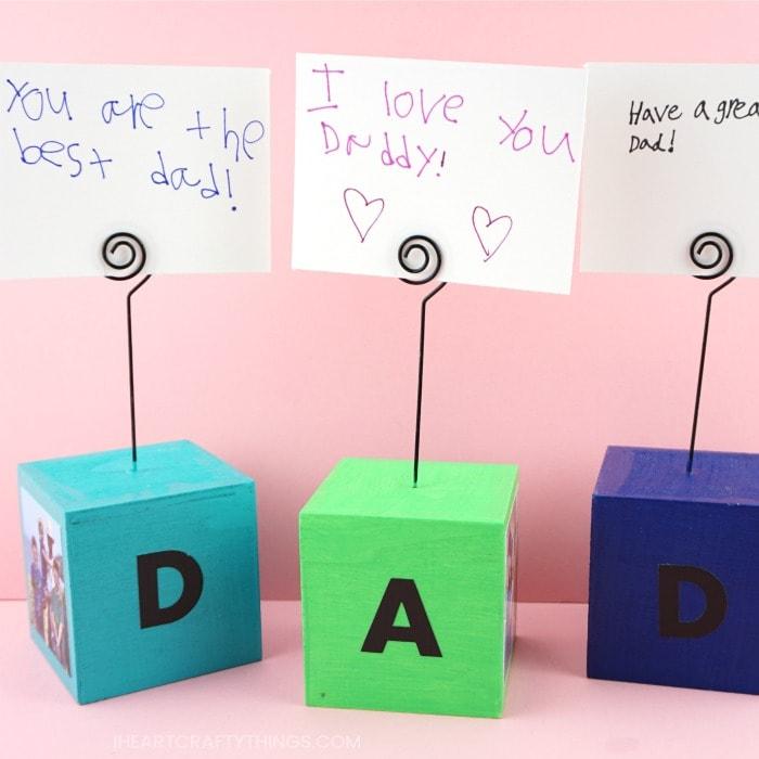 Cubi portafoto per papà