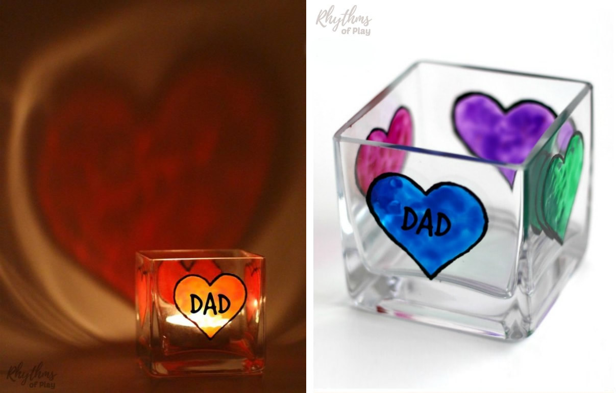Portacandela personalizzato festa del papà