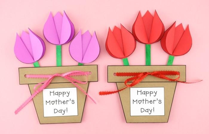 Biglietto di auguri vaso di tulipani