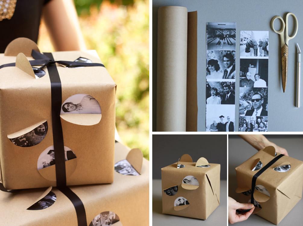 Carta regalo con foto di famiglia