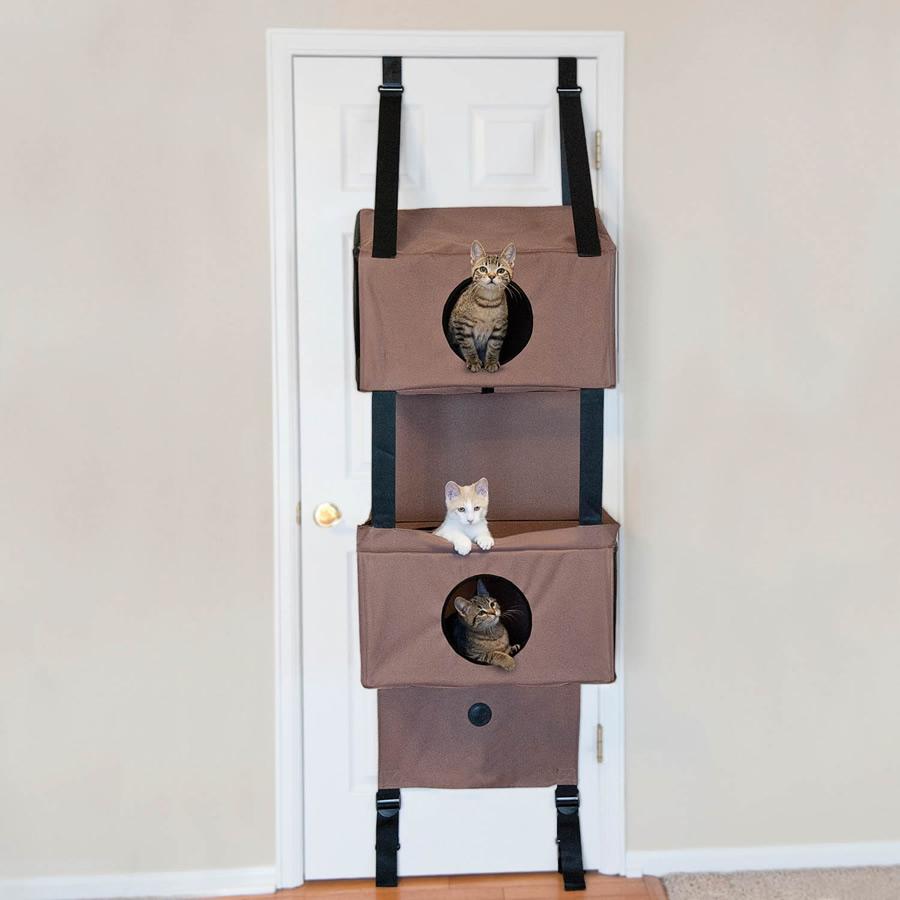 Casetta per gatti che si appende alle porte