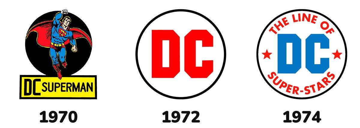 Loghi DC Comics anni '70