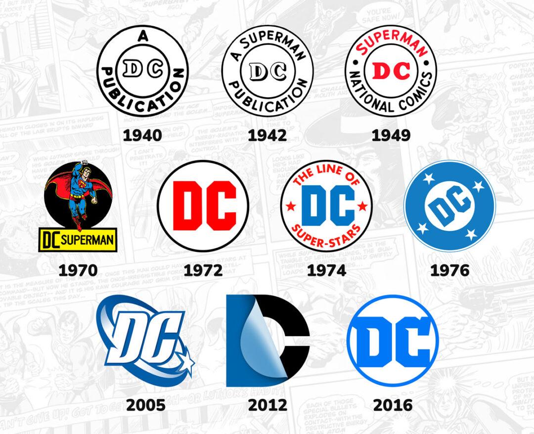 Storia Logo DC Comics